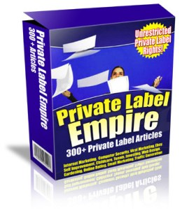 A box of private label articles